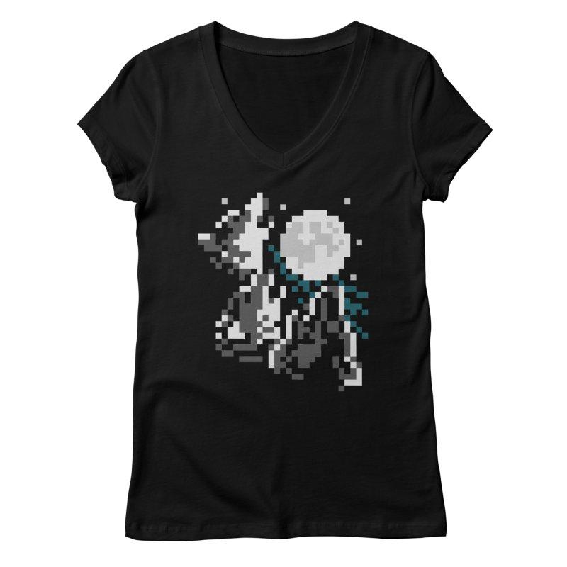 Lunar Pack Women's V-Neck by Aled's Artist Shop