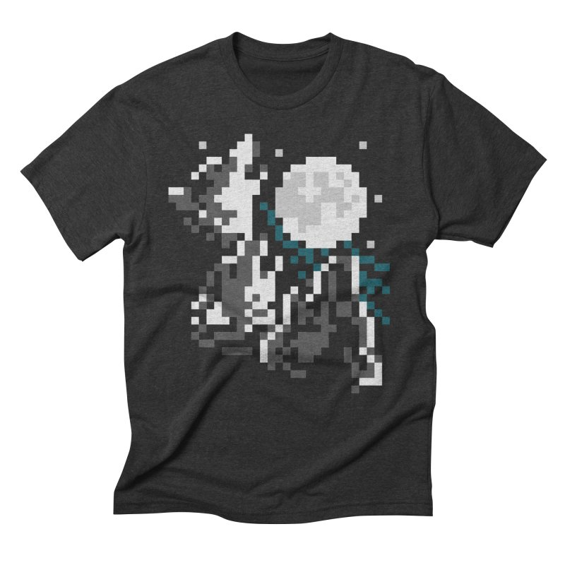 Lunar Pack in Men's Triblend T-Shirt Heather Onyx by Aled's Artist Shop