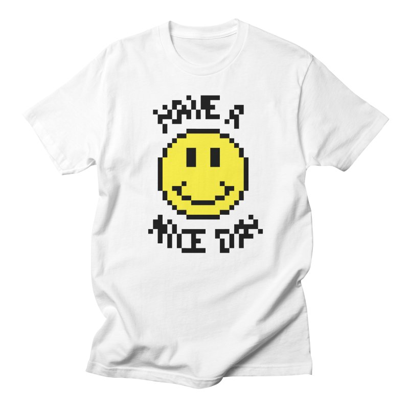 Positive Emoji in Men's Regular T-Shirt White by Aled's Artist Shop