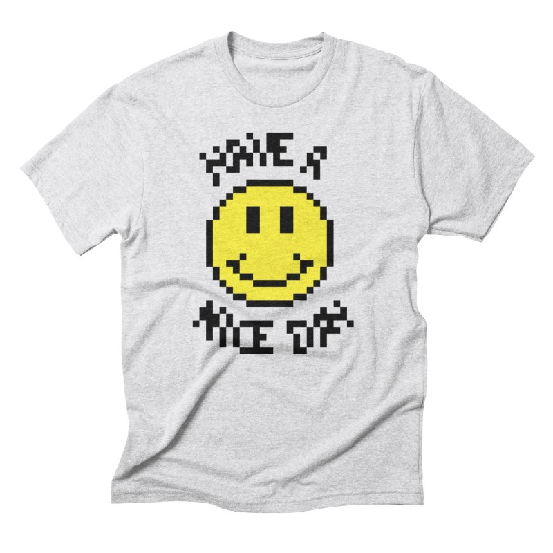 Positive Emoji in Men's Triblend T-Shirt Heather White by Aled's Artist Shop