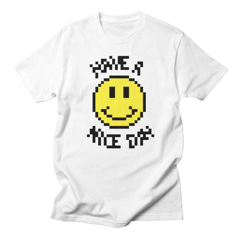 Positive Emoji in Men's T-Shirt White by Aled's Artist Shop