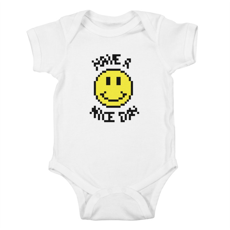Positive Emoji Kids Baby Bodysuit by Aled's Artist Shop
