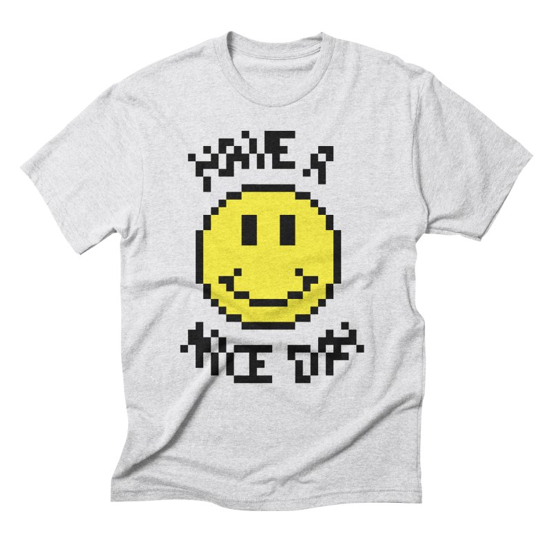 Positive Emoji in Men's Triblend T-Shirt Heather White by Aled's Artist Shop