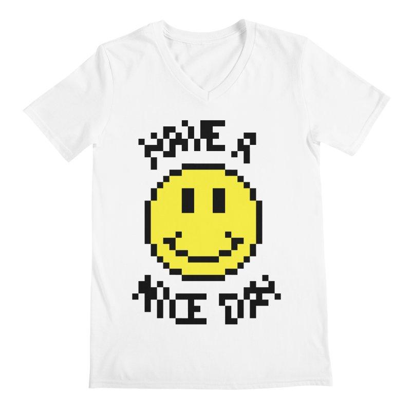 Positive Emoji Men's V-Neck by Aled's Artist Shop