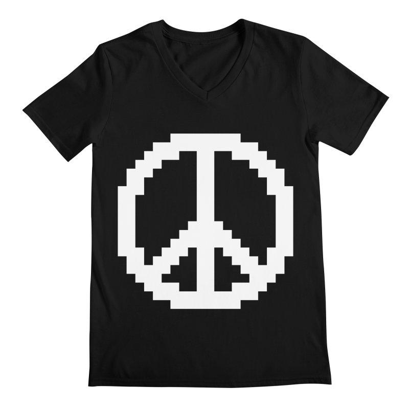 Peace ☮ Men's V-Neck by Aled's Artist Shop