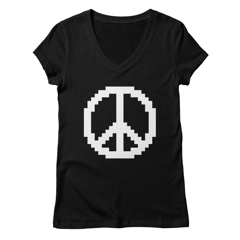 Peace ☮ Women's V-Neck by Aled's Artist Shop