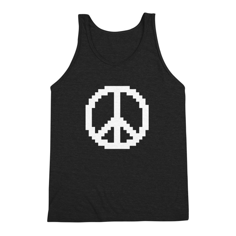 Peace ☮ Men's Triblend Tank by Aled's Artist Shop