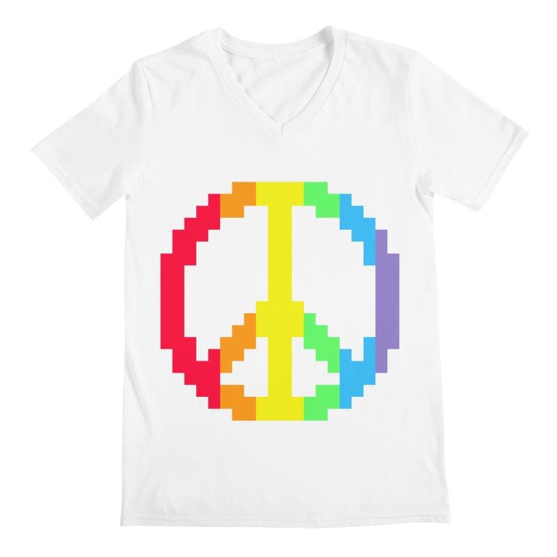 Peace Spectrum ☮ Men's V-Neck by Aled's Artist Shop