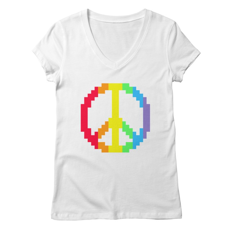 Peace Spectrum ☮ Women's V-Neck by Aled's Artist Shop