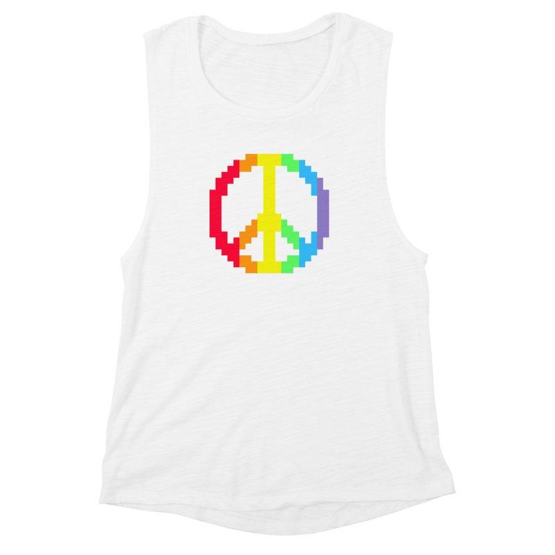 Peace Spectrum ☮ Women's Muscle Tank by Aled's Artist Shop
