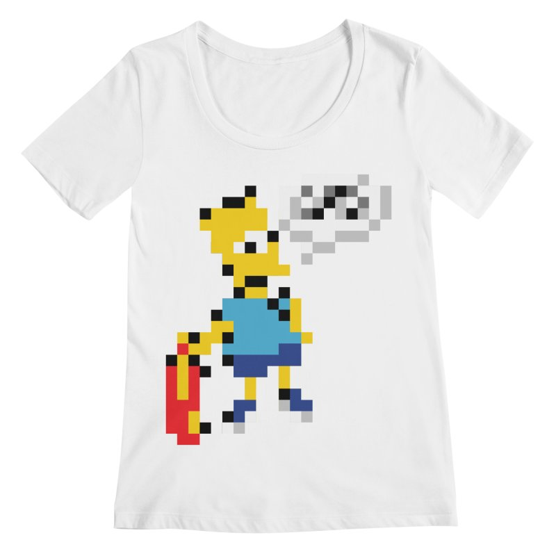 Brat Women's Scoopneck by Aled's Artist Shop