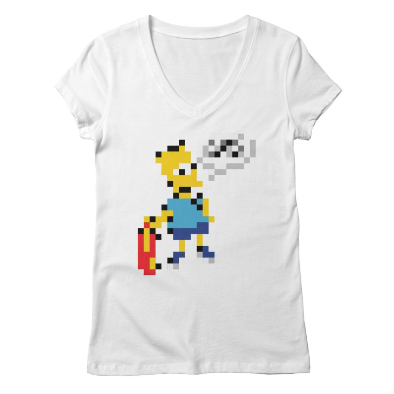 Brat Women's V-Neck by Aled's Artist Shop