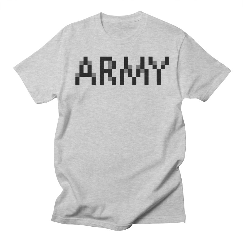 ARMY in Men's Regular T-Shirt Heather Grey by Aled's Artist Shop