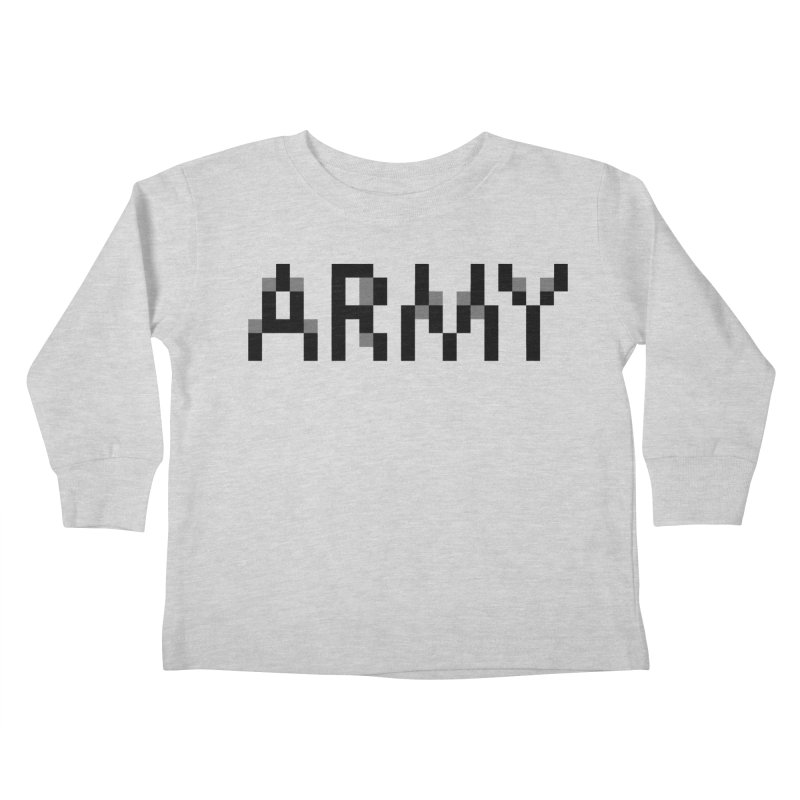 ARMY Kids Toddler Longsleeve T-Shirt by Aled's Artist Shop