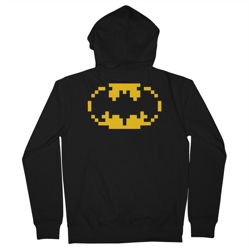 Bat Men's French Terry Zip-Up Hoody by Aled's Artist Shop