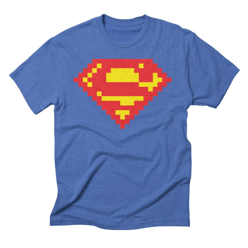Super in Men's Triblend T-Shirt Blue Triblend by Aled's Artist Shop