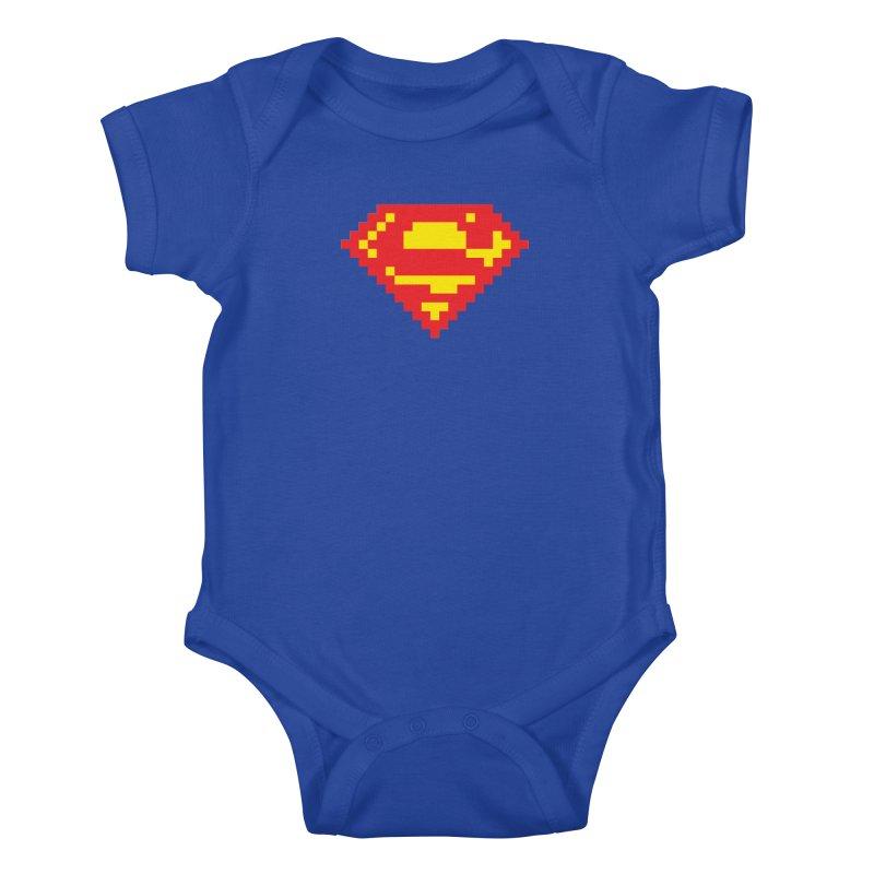 Super Kids Baby Bodysuit by Aled's Artist Shop