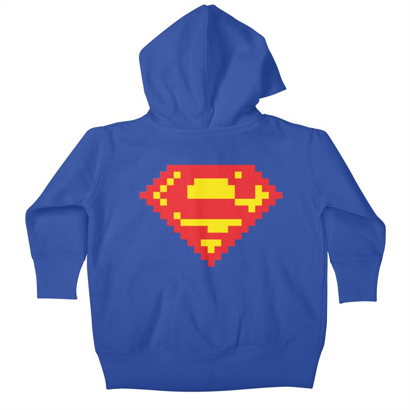 Super Kids Baby Zip-Up Hoody by Aled's Artist Shop