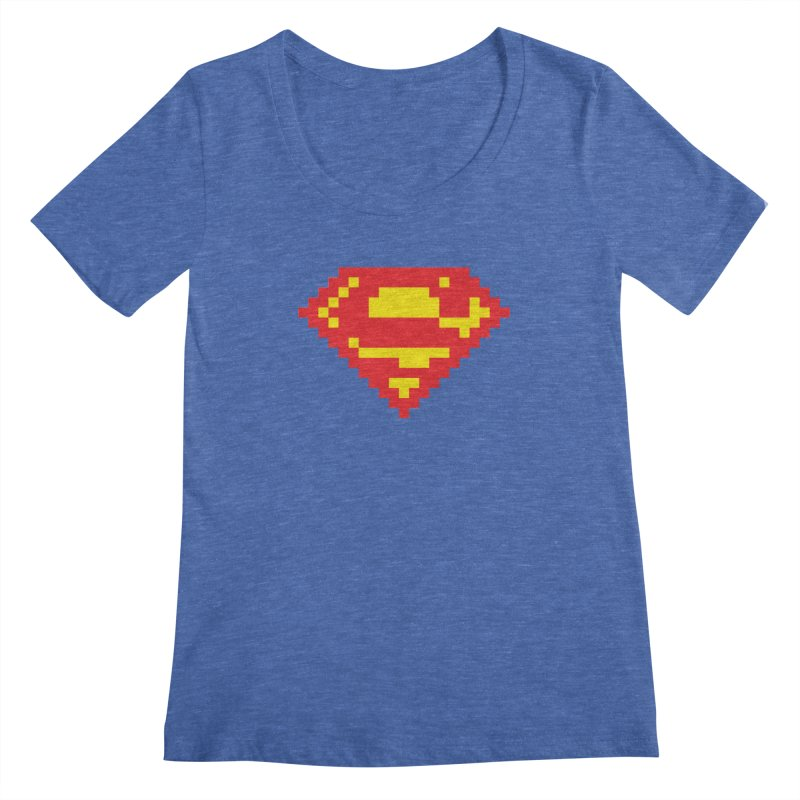 Super Women's Scoopneck by Aled's Artist Shop