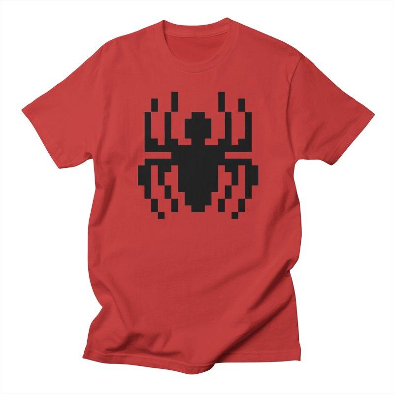 Spider in Men's Regular T-Shirt Red by Aled's Artist Shop