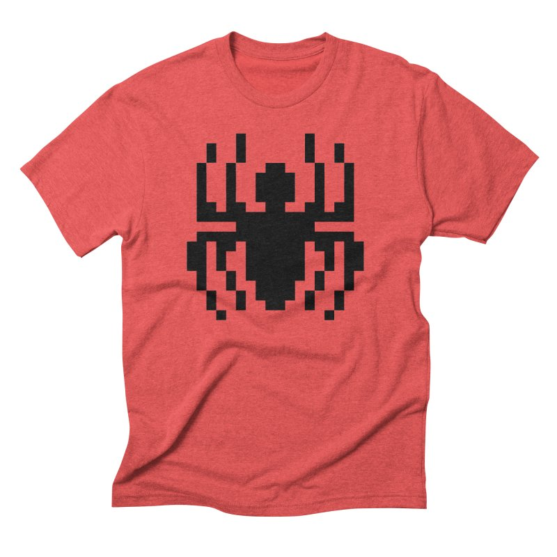 Spider in Men's Triblend T-Shirt Chili Red by Aled's Artist Shop