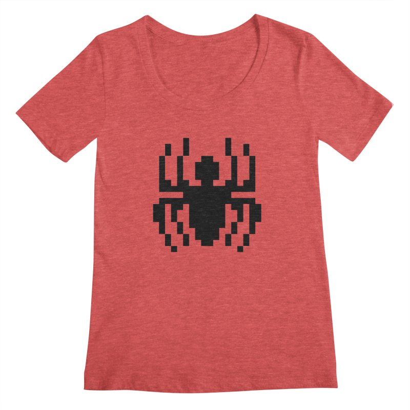Spider Women's Scoopneck by Aled's Artist Shop