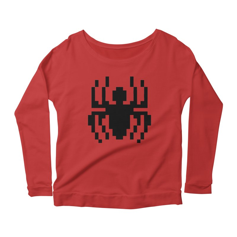 Spider Women's Scoop Neck Longsleeve T-Shirt by Aled's Artist Shop
