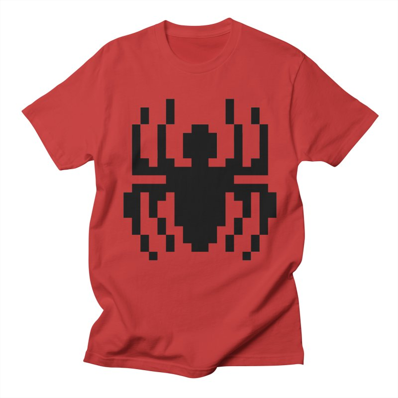 Spider in Men's T-Shirt Red by Aled's Artist Shop