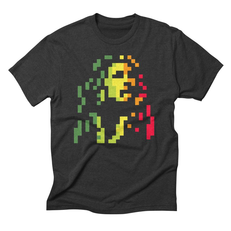 Reggae Icon in Men's Triblend T-Shirt Heather Onyx by Aled's Artist Shop