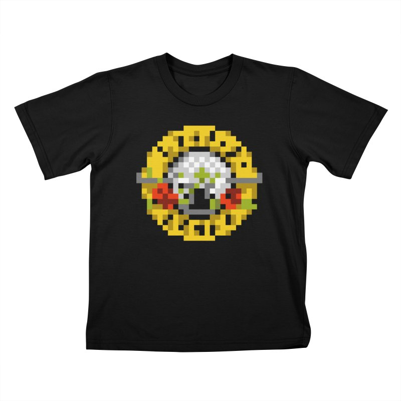 Hard Rock Band Kids T-Shirt by Aled's Artist Shop