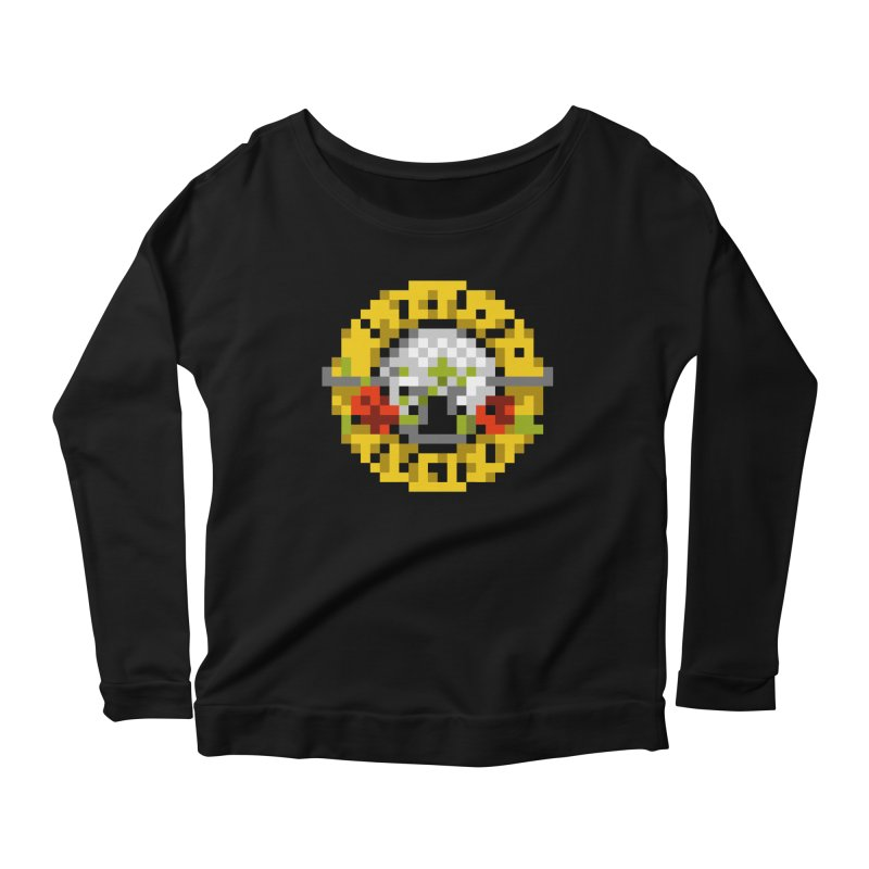 Hard Rock Band Women's Scoop Neck Longsleeve T-Shirt by Aled's Artist Shop