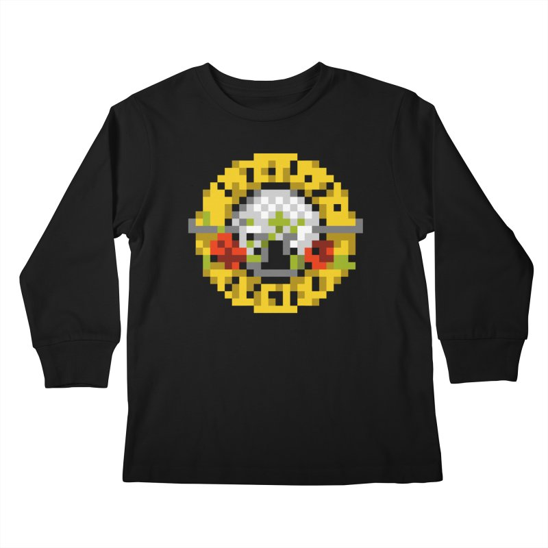 Hard Rock Band Kids Longsleeve T-Shirt by Aled's Artist Shop