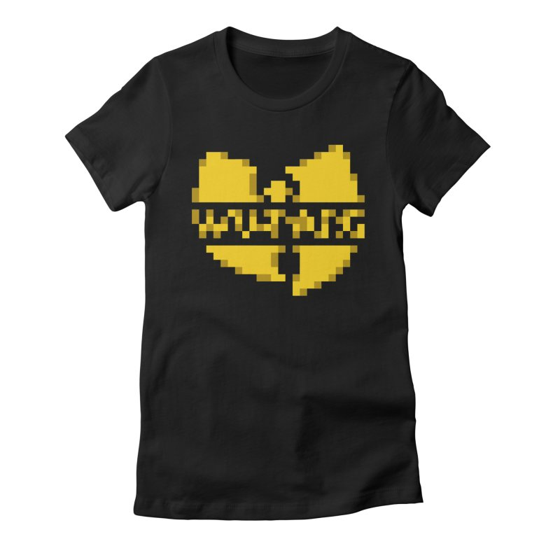 Hip Hop Group Women's Fitted T-Shirt by Aled's Artist Shop