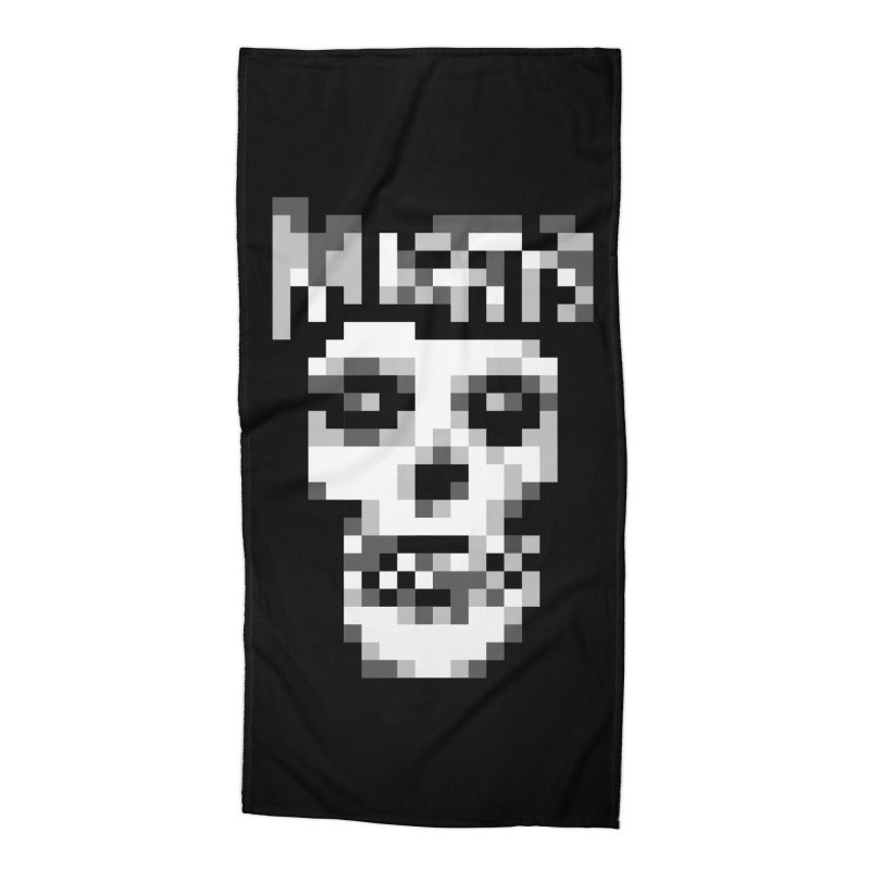 Horror Punk Band Accessories Beach Towel by Aled's Artist Shop