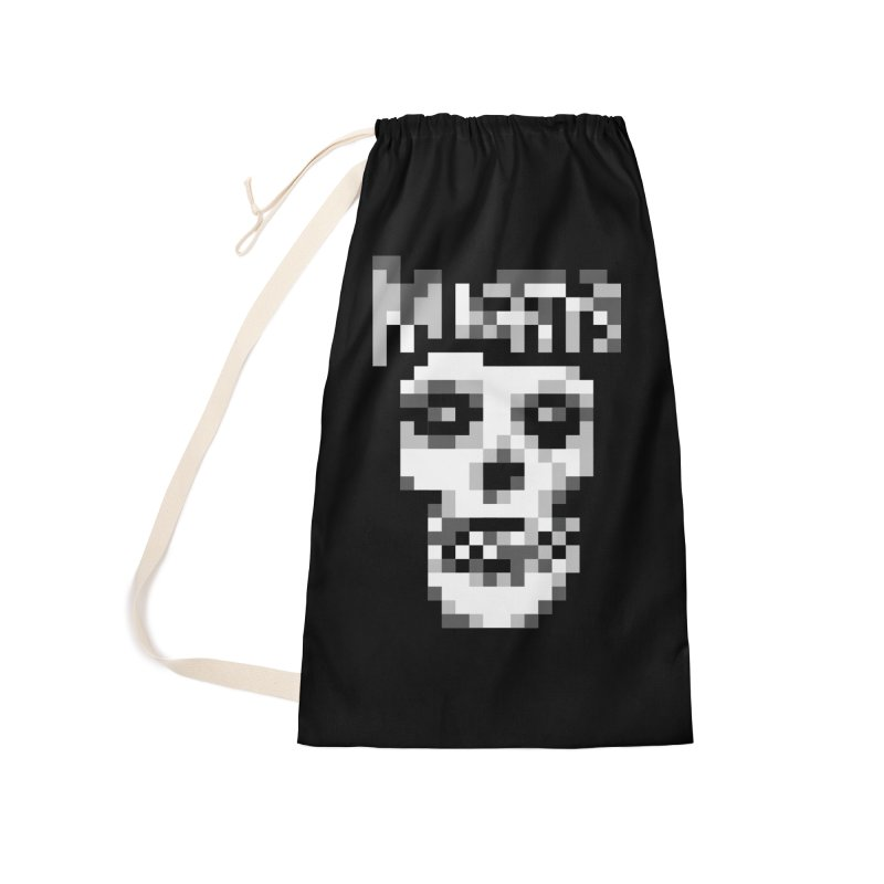 Horror Punk Band Accessories Laundry Bag Bag by Aled's Artist Shop