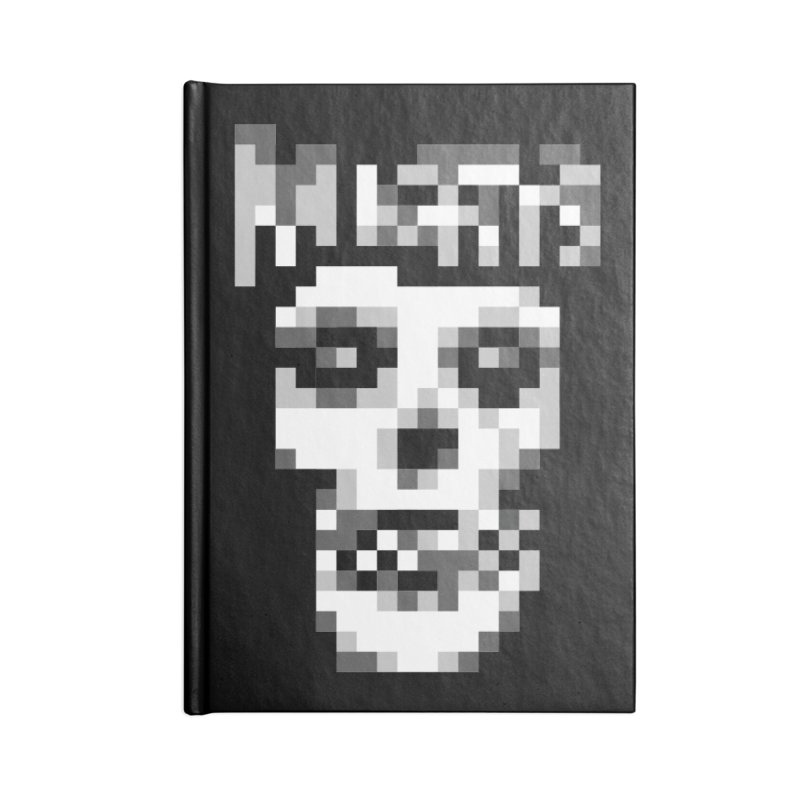 Horror Punk Band Accessories Notebook by Aled's Artist Shop