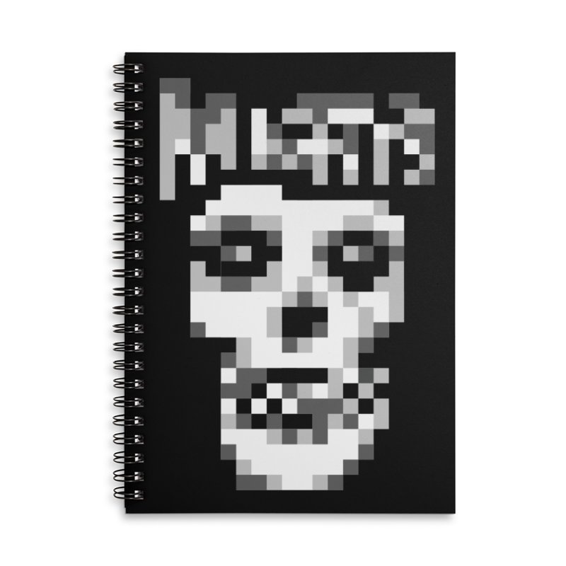 Horror Punk Band Accessories Lined Spiral Notebook by Aled's Artist Shop