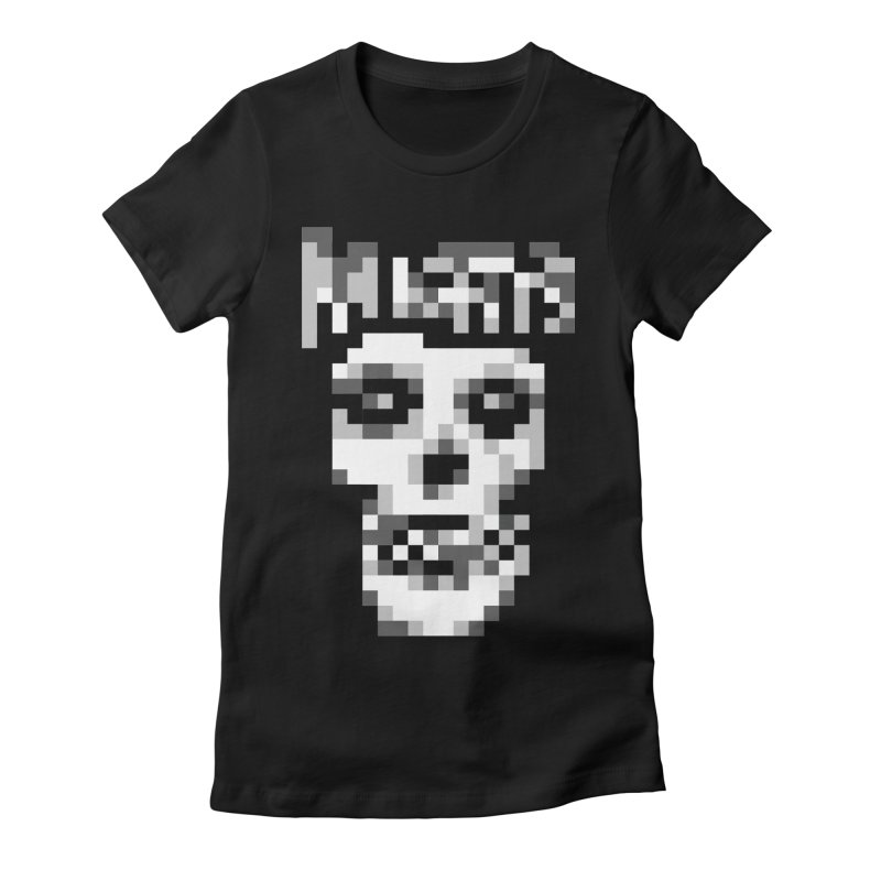 Horror Punk Band Women's Fitted T-Shirt by Aled's Artist Shop