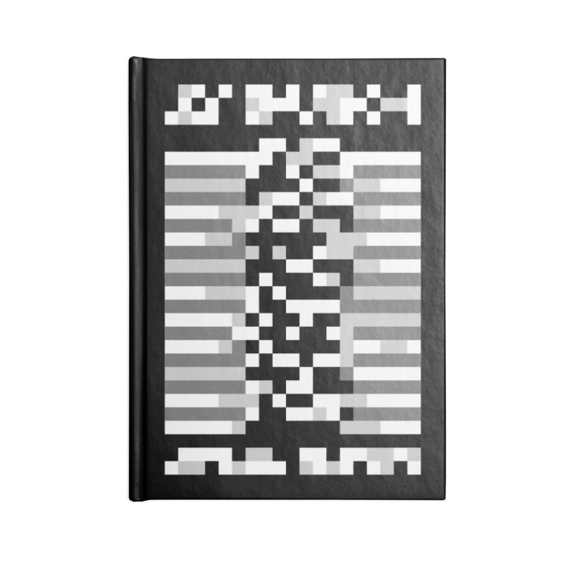Post-Punk Rock Band Accessories Notebook by Aled's Artist Shop