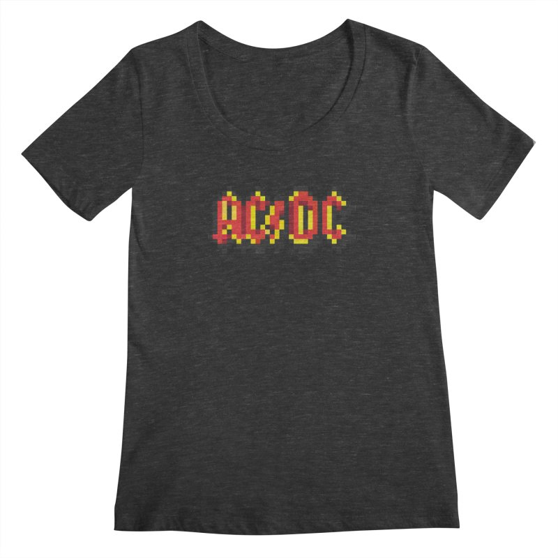 Hard Rock Band 2 Women's Scoopneck by Aled's Artist Shop