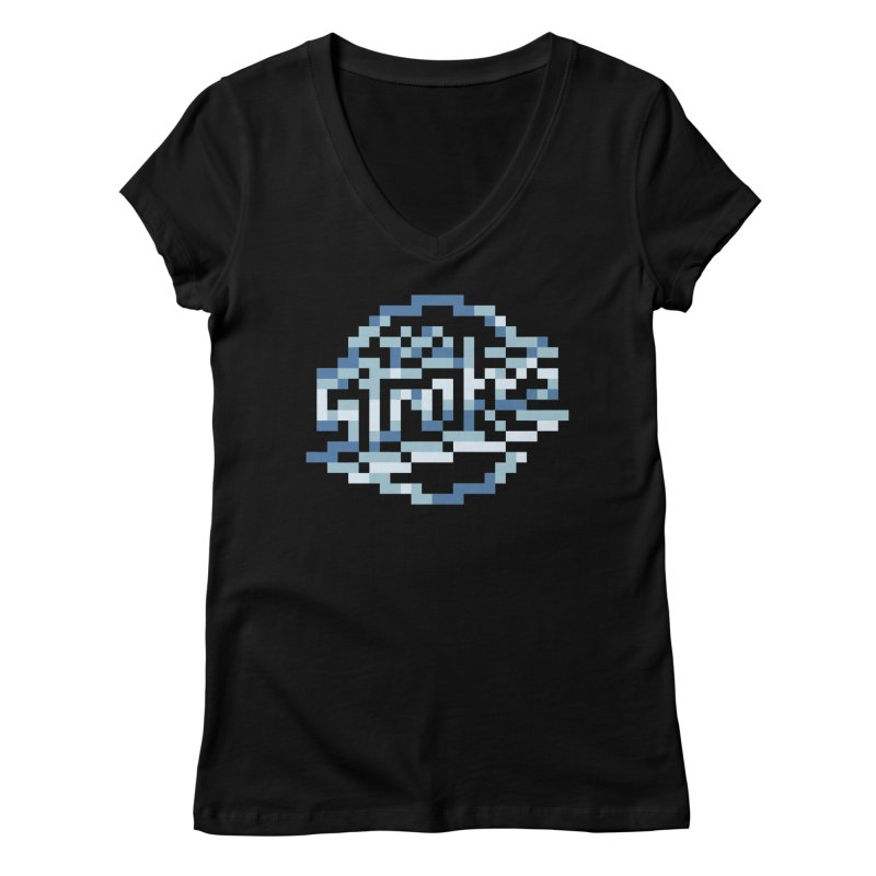 Indie Rock Band Women's V-Neck by Aled's Artist Shop