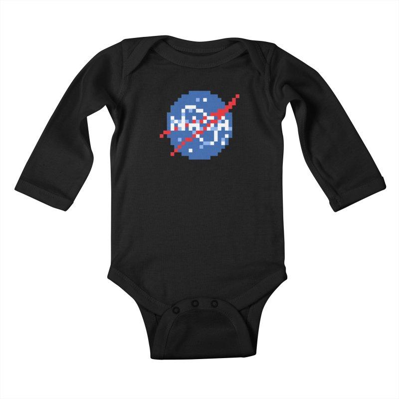 Space Science Kids Baby Longsleeve Bodysuit by Aled's Artist Shop