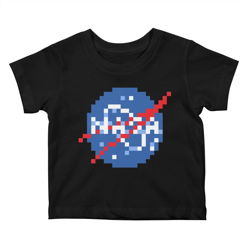 Space Science Kids Baby T-Shirt by Aled's Artist Shop