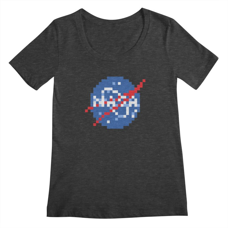 Space Science Women's Scoopneck by Aled's Artist Shop