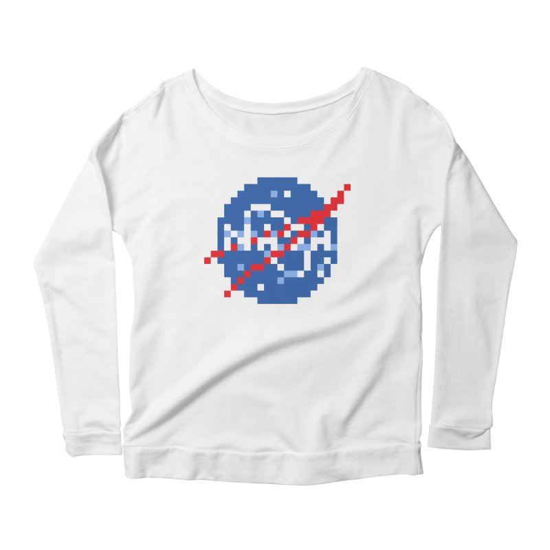 Space Science Women's Scoop Neck Longsleeve T-Shirt by Aled's Artist Shop