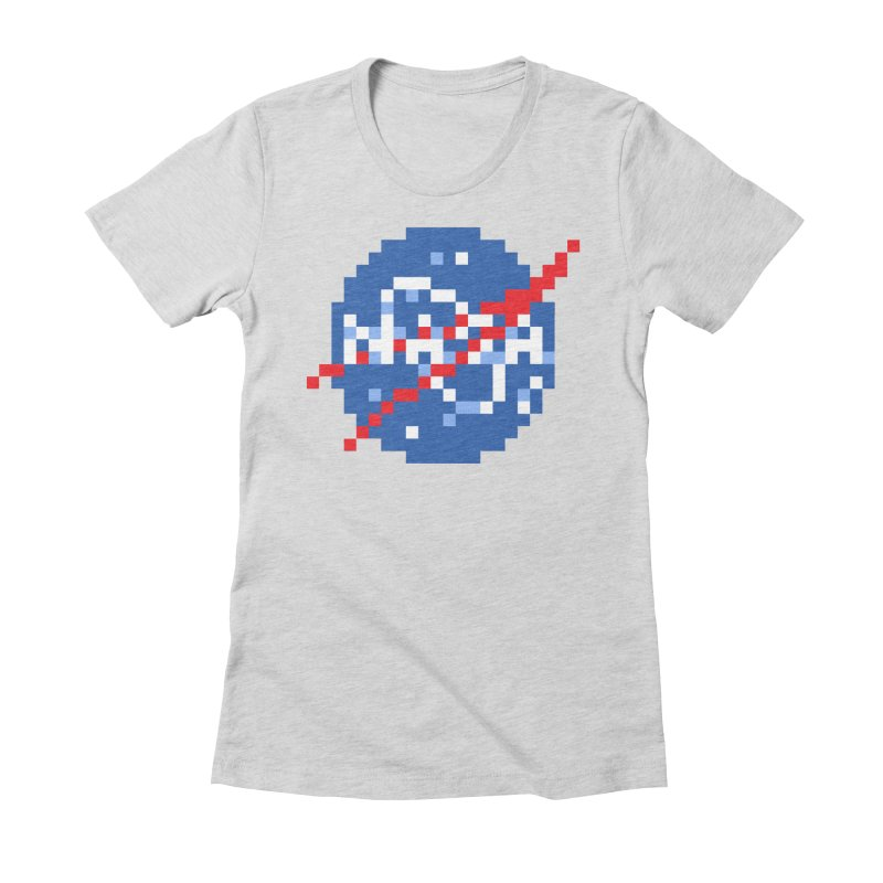 Space Science Women's Fitted T-Shirt by Aled's Artist Shop
