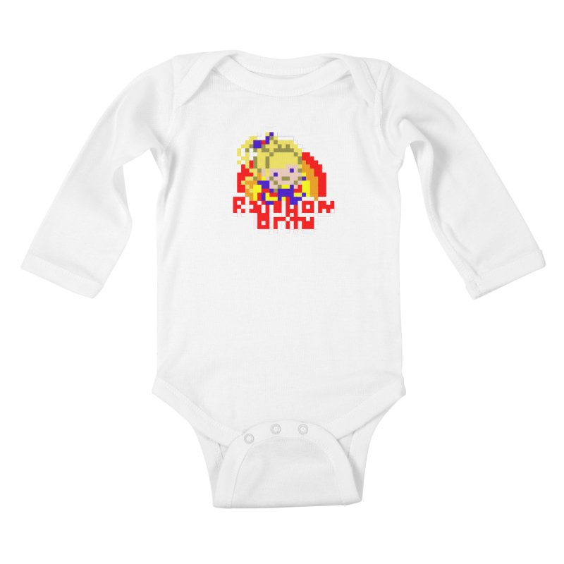 Magical Girl Kids Baby Longsleeve Bodysuit by Aled's Artist Shop