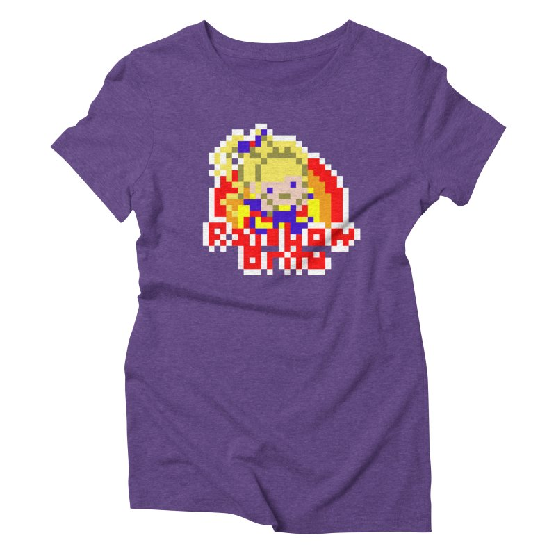 Magical Girl in Women's Triblend T-Shirt Tri-Purple by Aled's Artist Shop