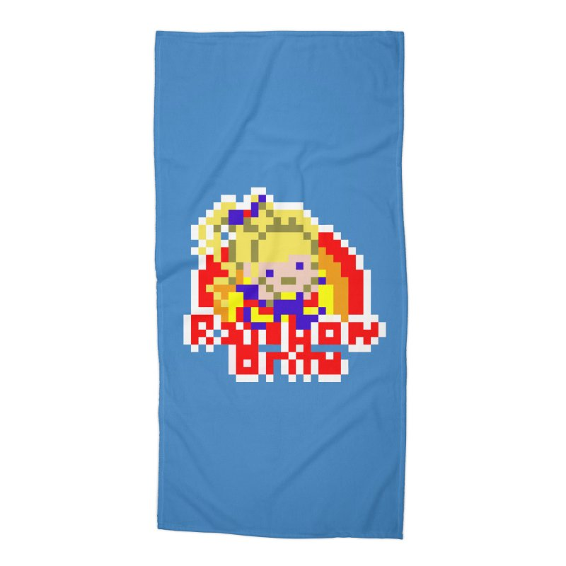 Magical Girl Accessories Beach Towel by Aled's Artist Shop