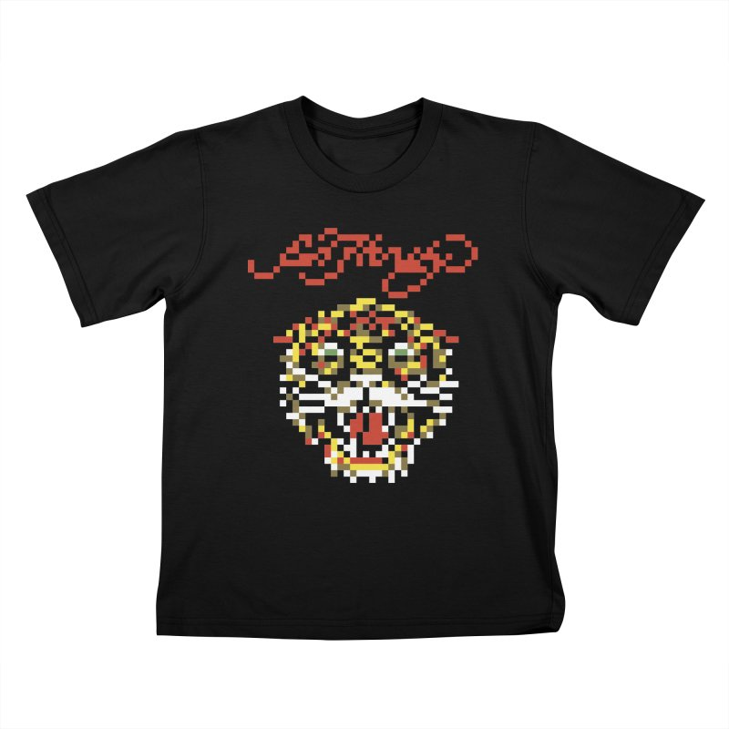 Tasteful Tiger Kids T-Shirt by Aled's Artist Shop